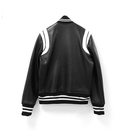 Stadium leather jacket