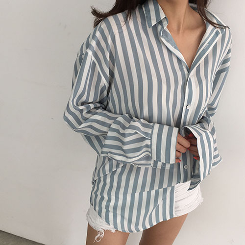 stripe silky over shirts