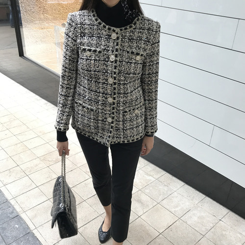 CHA* mix tweed jacket