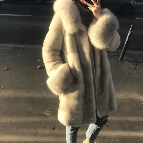 fox trimming mink jacket