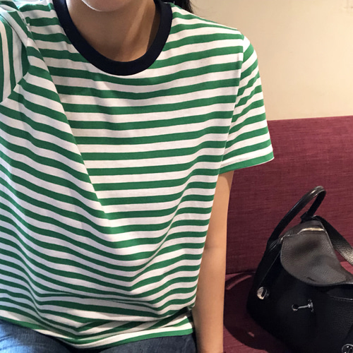 matching stripe tee