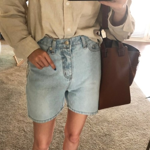 light denim boy short pants