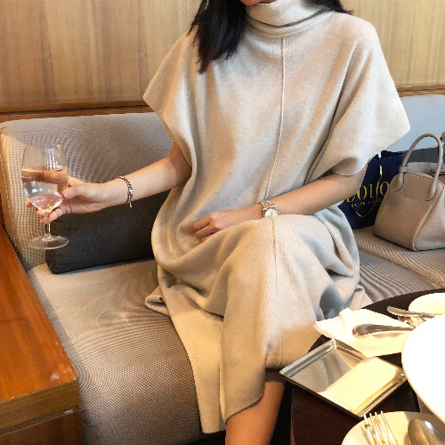 max long cape knit