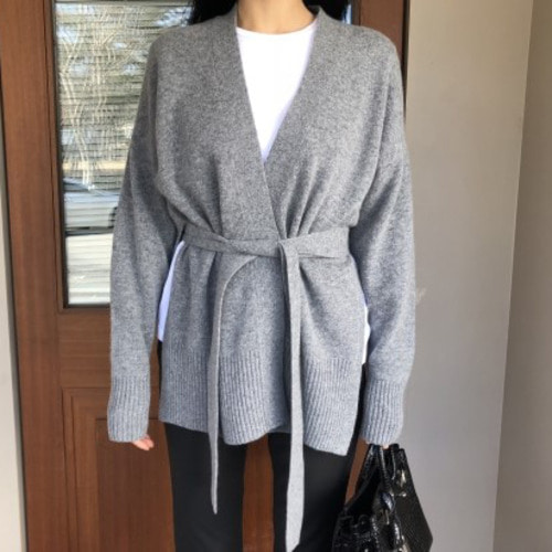 slit belt cardigan