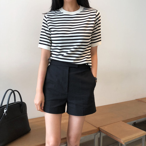 TIME stripe summer knit
