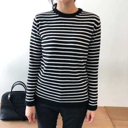 time long stripe knit