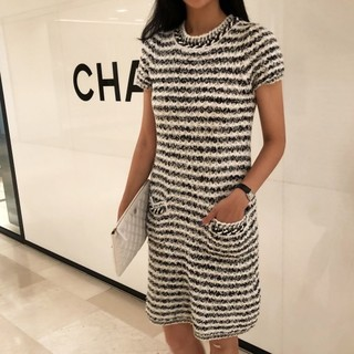 chane summer knit dress