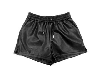 leather short pants