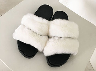 rare fur slipper