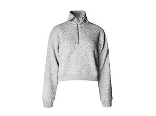 boucle zip - up sweater
