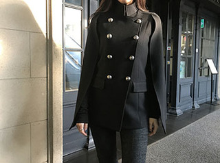 balmain cape jacket