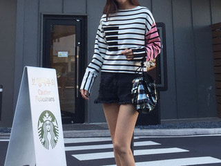 celine* knit sp tee