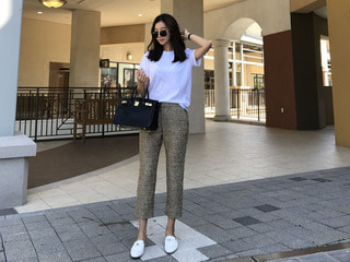 chanel* tweed pants