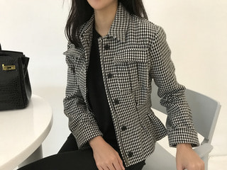 dio* hound check jacket