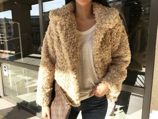 wool fur jacket