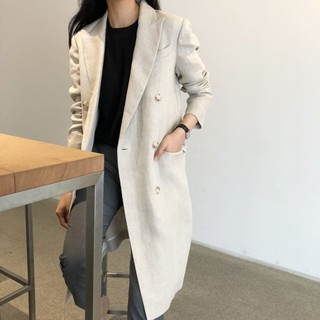 lemere linen long jacket